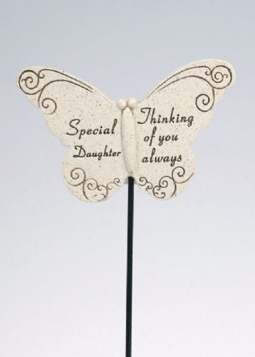 Special DAUGHTER Butterfly Sentimental Memorial Grave Stick DF13264I